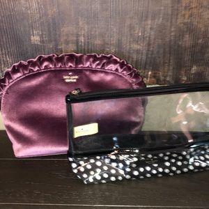 Kate spade cosmetic bags set of 2